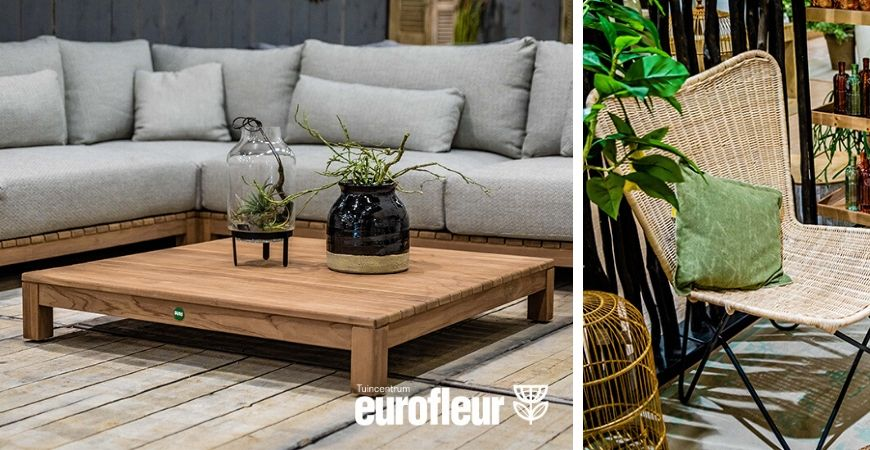 Tuinmeubelen kopen in tuincentrum Eurofleur