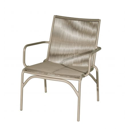 Valerie stapelbare lage fauteuil taupe